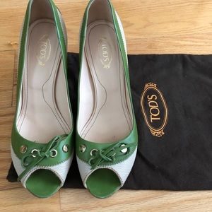 Tod's peep-toe heels, so 10 but fit more like 9.5